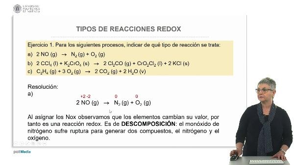 Tipo de reacciones redox (ejercicios prácticos)