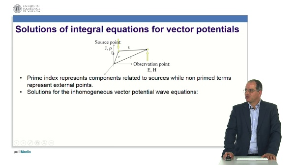 Solutions to vector potential equations