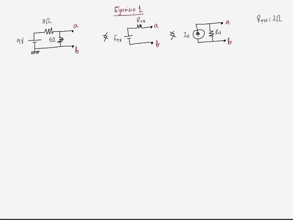 Teoría de Circuitos 1. Lección 3. 8.3.2 Cálculo tensión equivalente Thevenin. Ejercicio 1