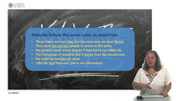 Comparing adverbs