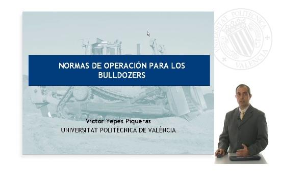Normas de operación para los bulldozer