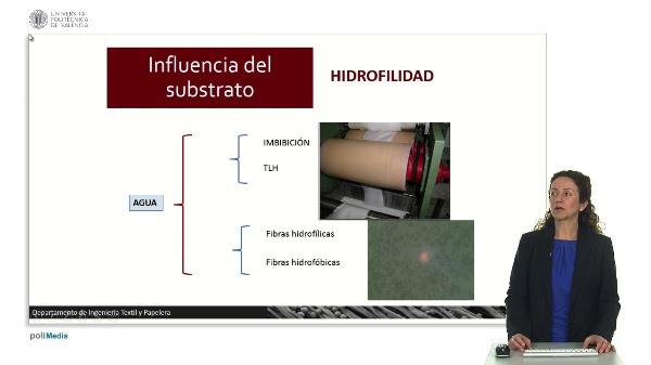 Influencia del substrato. Hidrofilidad.