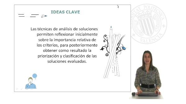Módulo 3: Analizar soluciones: Toma de decisiones