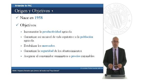 Origen y principios de la Política Agrícola Común