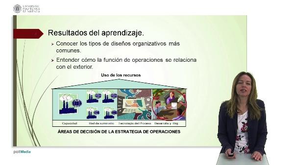Tipos de diseños organizativos en la estrategia de operaciones