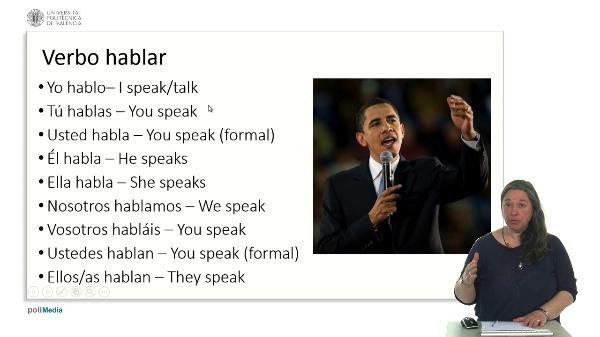 El verbo hablar conjugación