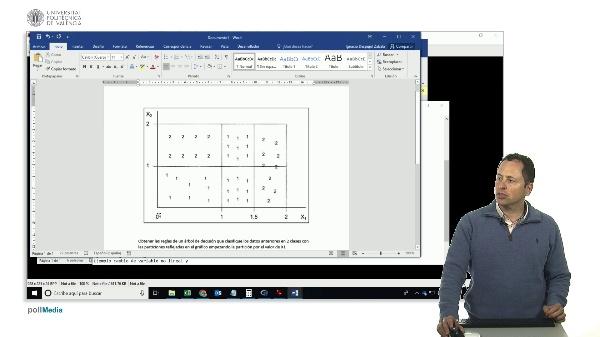 Aprendizaje automático. Ejemplo de construcción de un árbol de decisión por partición