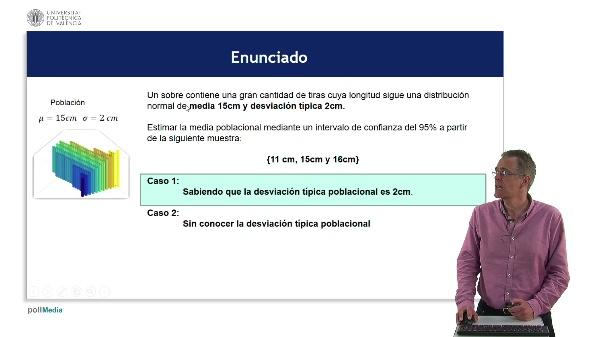 Estimación de la media: Normal vs t-Student