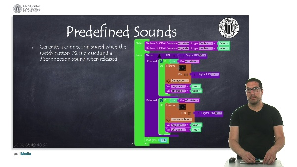 Programming examples: Predefined sounds