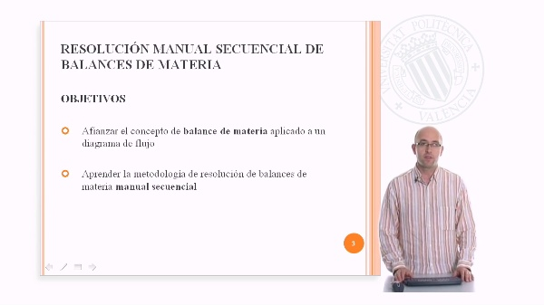 Resolución Manual Secuencial de Balances de Materia