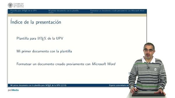 Mi primer documento con la plantilla para LaTeX de la UPV