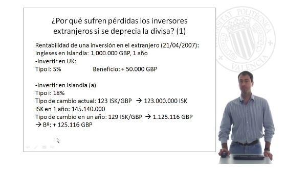 La rentabilidad de las inversiones y el tipo de cambio