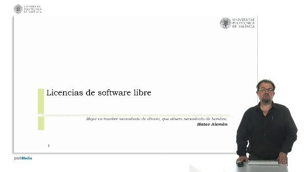 Licencias del software libre.