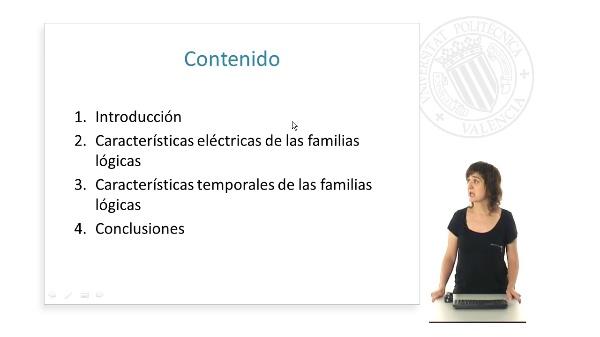 Características eléctricas y temporales de las familias lógicas