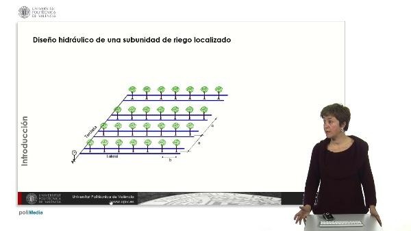 Diseño hidráulico de una subunidad con emisores no compensantes: Caso práctico.