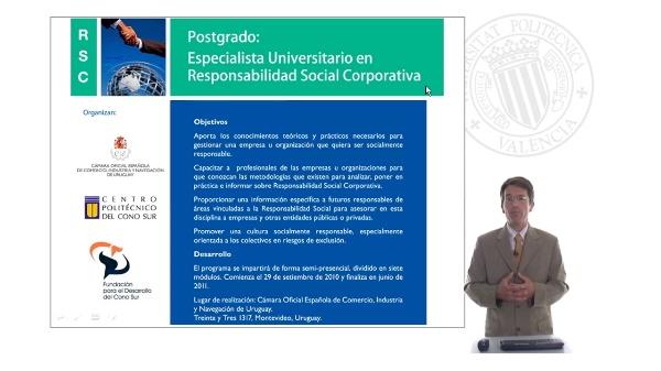 Título de Especialista Universitario en Responsabilidad Social Corporativa