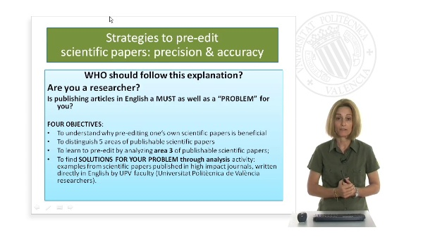 Strategies to pre-edit scientific papers: precision and accuracy