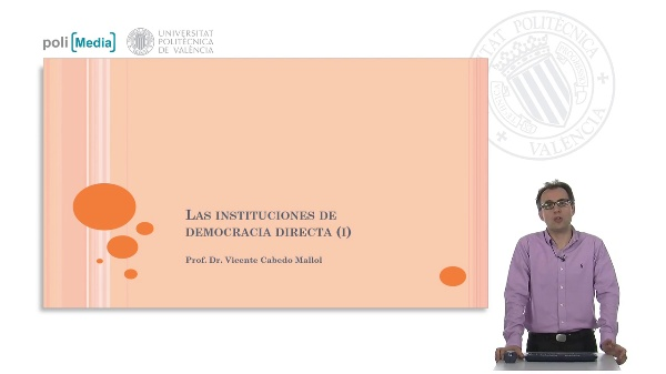 Las instituciones de democracia directa (I)
