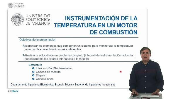 Solución integral en un problema de instrumentación de la temperatura de un motor