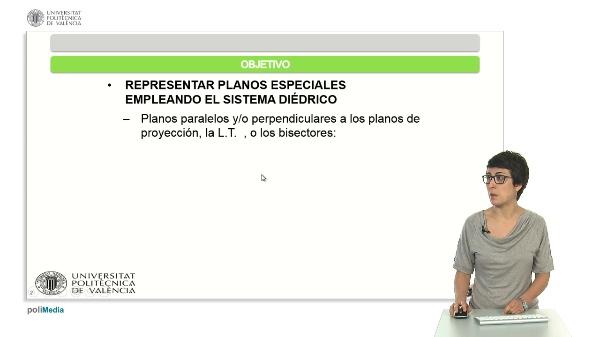 REPRESENTACIÓN DE PLANOS ESPECIALES EMPLEANDO EL SISTEMA DIÉDRICO