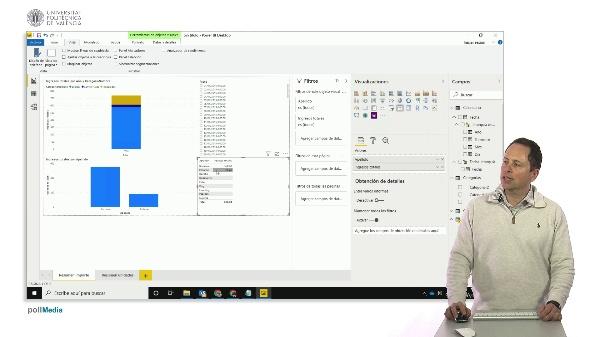 MOOC Power BI. Mostrar elementos sin datos en listas y gráficos, opciones de resumen de datos