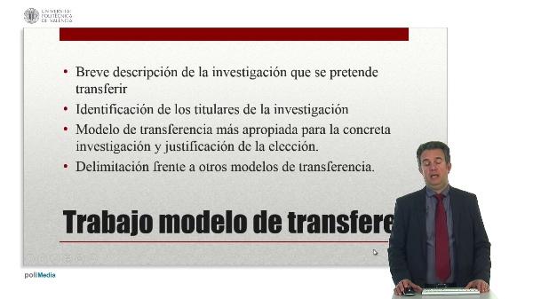 Trabajo sobre la transferencia de los resultados de la investigación.