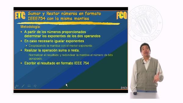 Operaciones en coma flotante IEEE754 exponentes diferentes