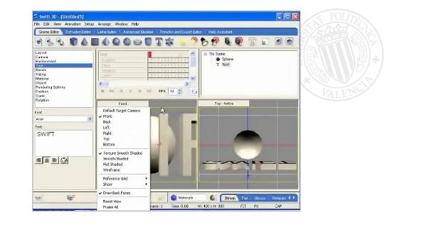 Modelado por extrusión y rotacional con Swift3D