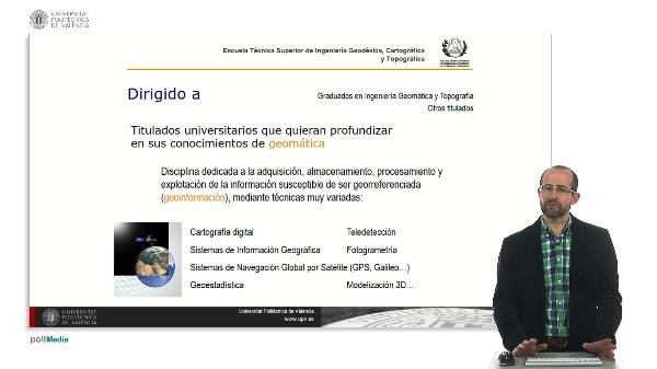 Presentación. Máster Universitario en Ingeniería Geomática y Geoinformación.2