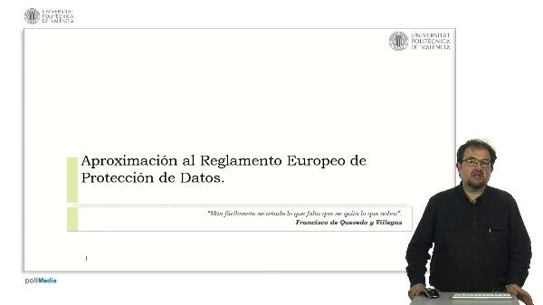 Aproximación al Reglamento Europeo de Protección de Datos
