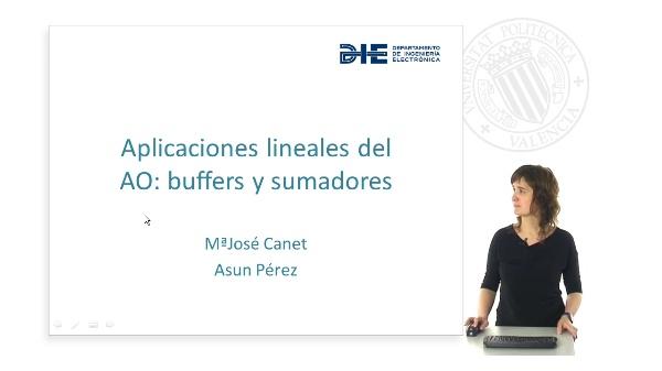 Buffers y sumadores con AO