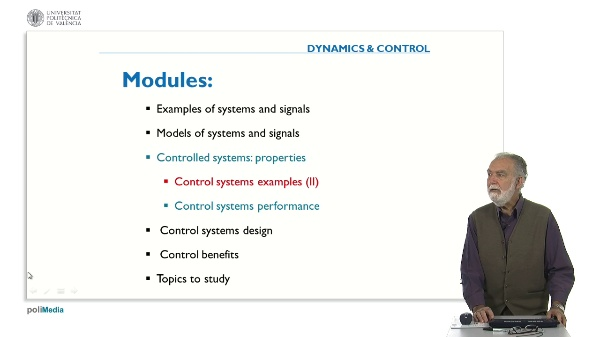 Propierties of Controlled Systems. Industrial Examples