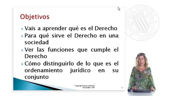 El Derecho, sus funciones y su distinción con el Ordenamiento Jurídico