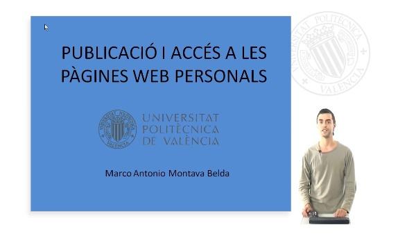 Publicació i accés a les pàgines web personals