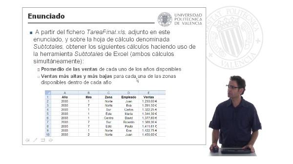 Ejercicio Subtotales / Esquema