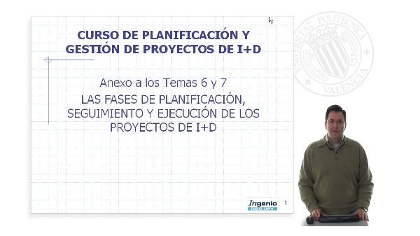 Anexo Temas 6 y 7. Las fases de planificación seguimiento y ejecución de los proyectos de I+D (parte1)