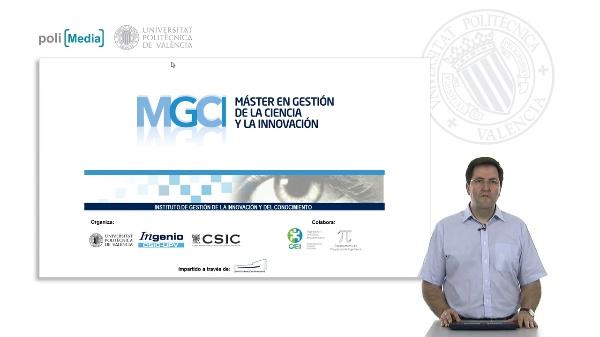 Presentación Máster en Gestión de la Ciencia y la Innovación