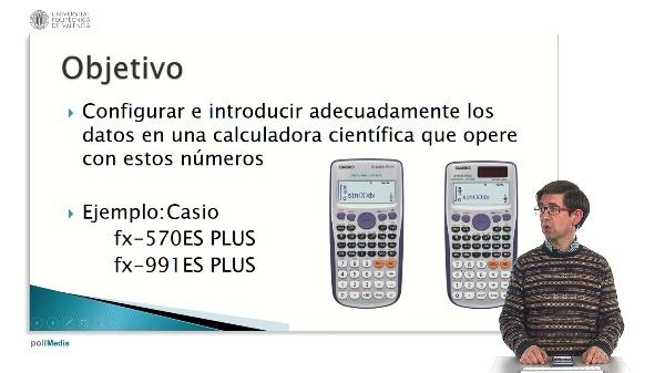 Manejo de una calculadora científica para operar con números complejos. Introducción de datos.
