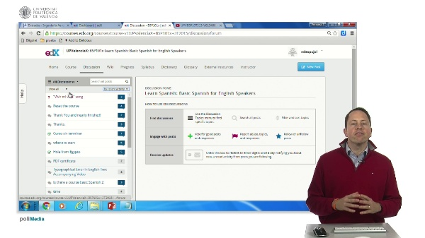 edx dicussion forum interface
