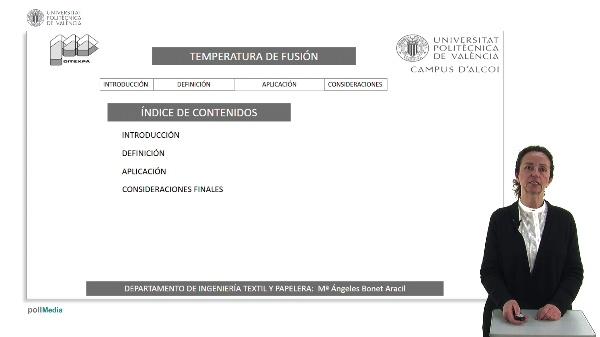 Propiedades térmicas de las fibras textiles. Temperatura de fusión