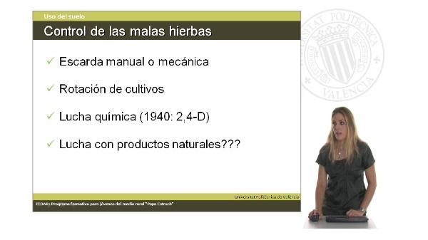 Unidad 3.5 La protección de cultivos frente a las malas hierbas. Breve resumen histórico
