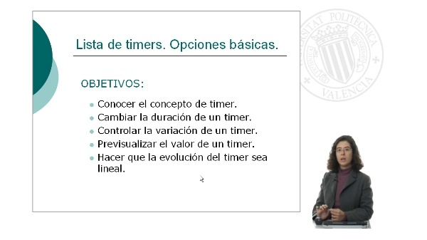 Lista de timers. Opciones básicas