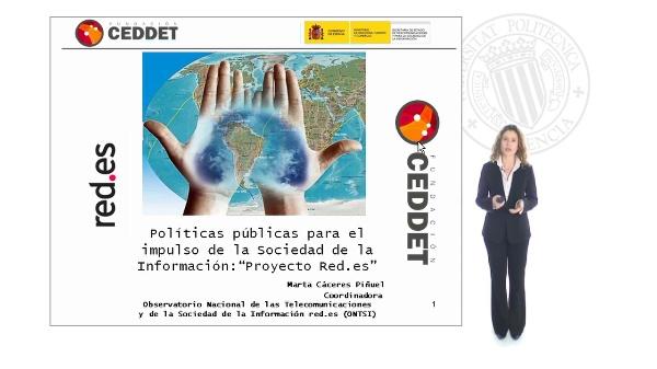Introducción al Curso de Políticas Públicas para la Promoción de la Sociedad de la Información: El proyecto red.es