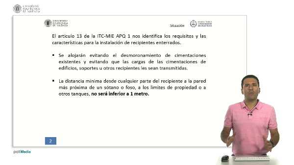 ITC MIE APQ-1: Instalación de recipientes enterrados