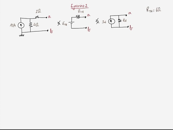 Teoría de Circuitos 1. Lección 3. 8.3.3 Cálculo resistencia equivalente Thevenin. Ejercicio 2