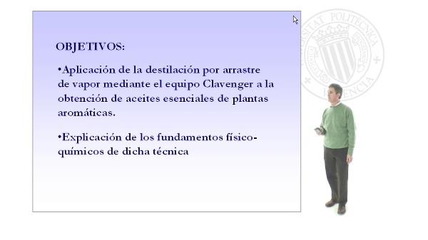 Obtención de aceites esenciales mediante destilación por arrastre de vapor (equipo Clavenger)