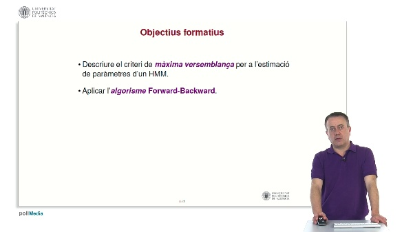 Aprenentatge d'HMMs: algorisme Forward-Backward