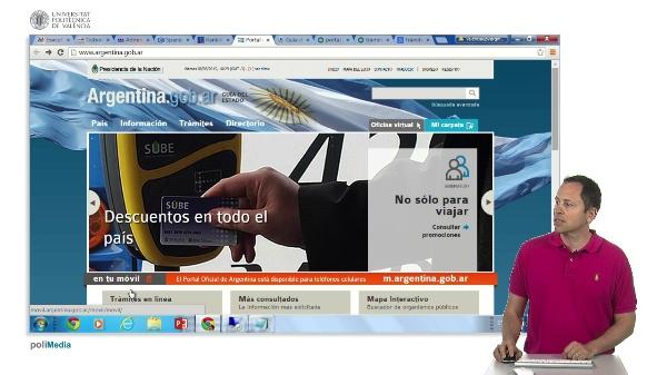 Presencia en internet de los estamentos gubernamentales de Argentina y Uruguay