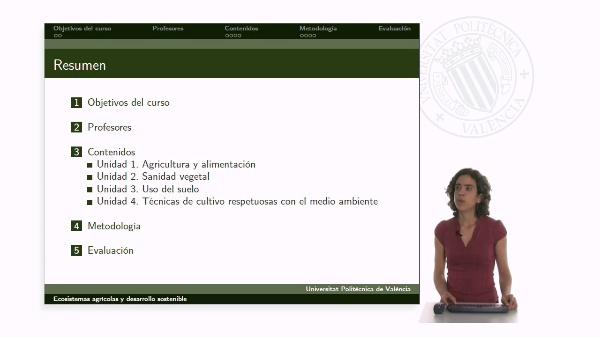 Presentación Ecosistemas agrícolas y desarrollo sostenible