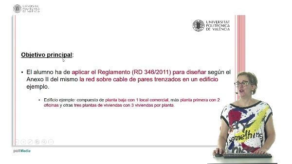 Ejemplo de diseño de una red sobre cable de pares trenzados según ANEXO II del Real Decreto 346/2011